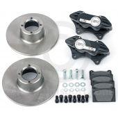 "Cooper 8.4"" Std 4 pot Alloy Caliper Brake Conversion Road Kit - Black"